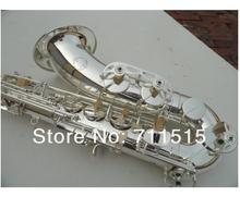 Fast shipping EMS Tenor Saxophone Wire Srawing Silver Bb Sax Drop B SS-36  With Case and Accessories