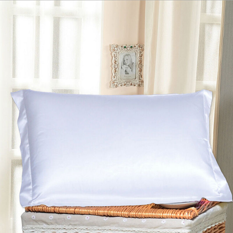 new fashion summer silk satin soft pillow cases soft cool comfort standard solid protector pillow