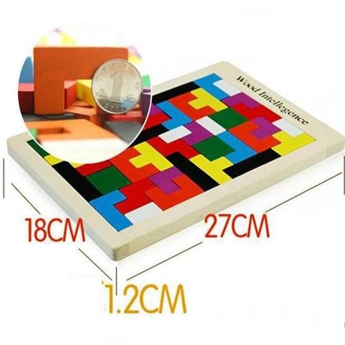Rompecabezas de madera para niños Toy Tangram Puzzle Rompecabezas - Juegos y rompecabezas - foto 2