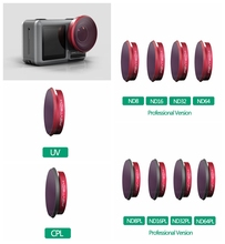 цена на PGYTECH Osmo Action Lens Filter UV CPL ND4/8/16/32/64 Kits NDPL4/8/16/32/64 Sets For DJI OSMO ACTION Camera Lens Accessories
