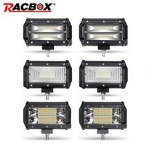 2Pcs 5 inch 72W Offroad LED Light Bar LED Work Light Flood Beam Spotlight For JEEP Truck Tractor 4×4 UAZ ATV SUV Kamaz Headlight