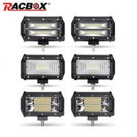2Pcs 5 inch 72W Offroad LED Light Bar LED Work Light Flood Beam Spotlight For JEEP Truck Tractor 4x4 UAZ ATV SUV Kamaz Headlight