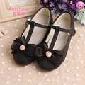 Black Children Princess Shoes Girls Soft Leather Shoes Girls White Shoes For Weddings Party Performance Girls School Shoes