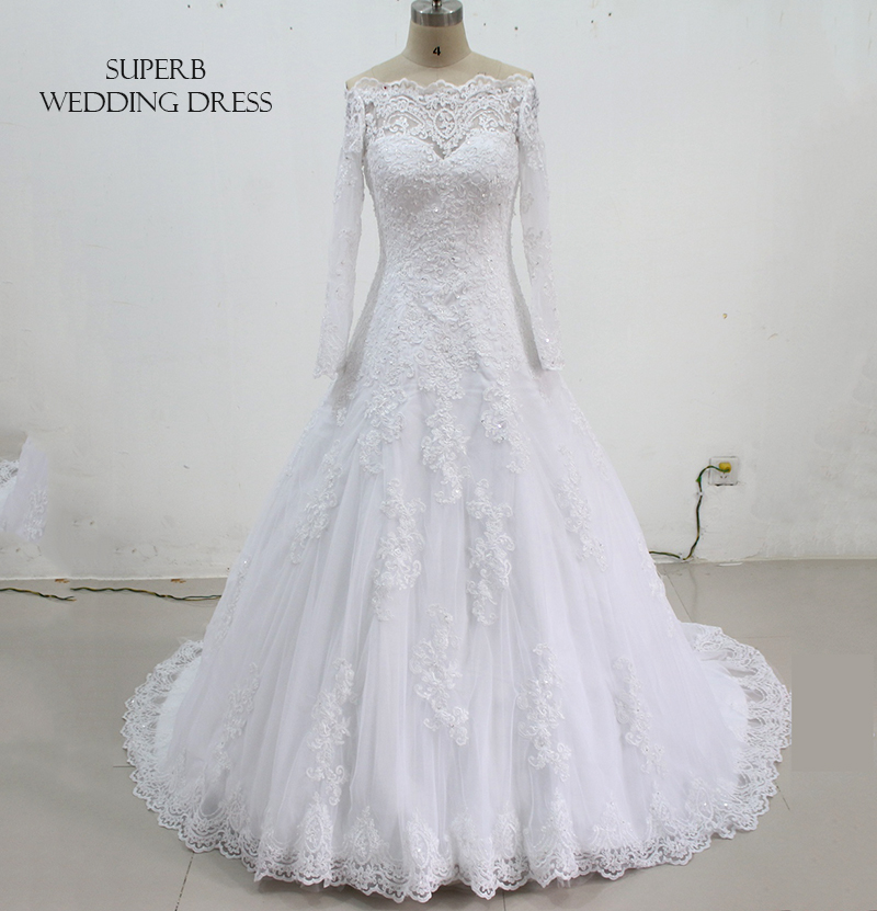 New Style Wedding Dress With Sleeves Bridal Gown Dresses For Bride Custom Made To Order Superbweddingdress