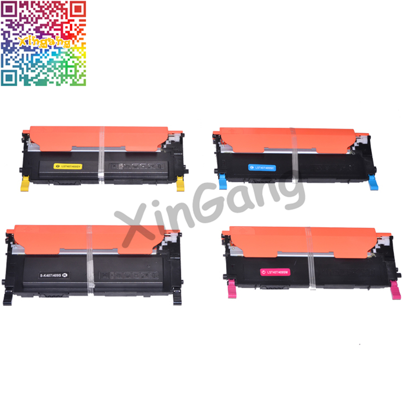 XG CLT-K407S CLT-C407S CLT-M407S CLT-Y407S Toner Cartridge for Samsung CLP-320 CLP320 CLP325 CLX-3180 CLX-3185 EXP Version 4pk high quality toner cartridge for samsung clt 406s color compatible for samsung clp 366 clp 360 365w clx 3305 3306 clx 3306w
