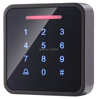 Whole Sale Elegant Metal MF1 Touch Access Control with 3000pcs cards capacity,Touch Keypad, wiegand in and out support