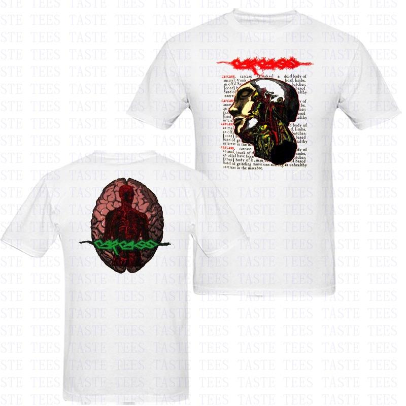 ᑎ‰Verano carcasa heavy metal cabeza anatomía camiseta hombres ...