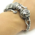 New Arrivals Men's boy's Silver cool Fine Tiger Bangle Bracelet Gift punk jewelry  wholesale Price