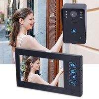 HD Villa Type Button 7 Inch Infrared Night Vision Monitor Video Intercom Doorbell Camera Access Control