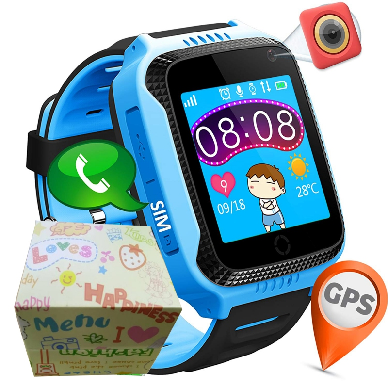 Children GPS Smart Watch With Flashlight and Camera SIM Calls Anti lost SOS Location Tracker Kid