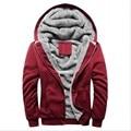 Warm Casual men's Sweat Tracksuit 2016 Brand Autumn Winter Patchwork Thick Velvet Sweatshirt Men Mens Hoodies And Sweatshirts