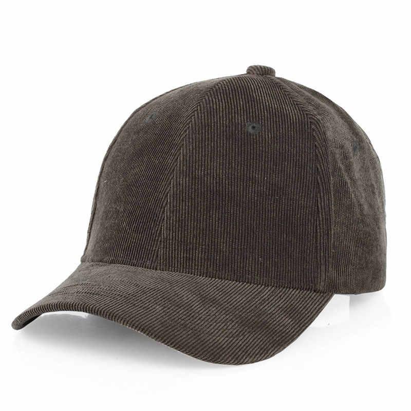 d8d5e19381c ... Men Womens Corduroy Cord Baseball Cap Adjustable Strap Back Trucker Hats  ...
