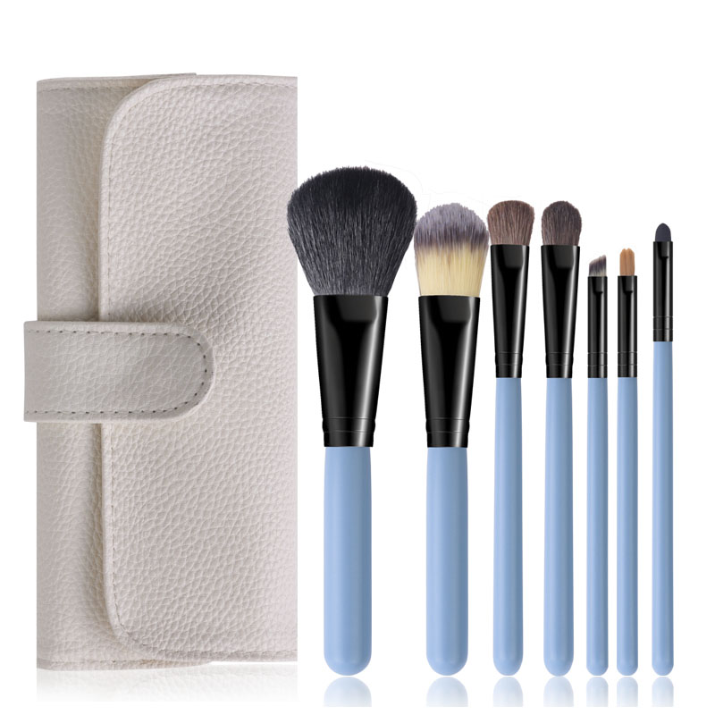 Blue pincel maquiagem cosmtics makeup brushes beauty tools (1)