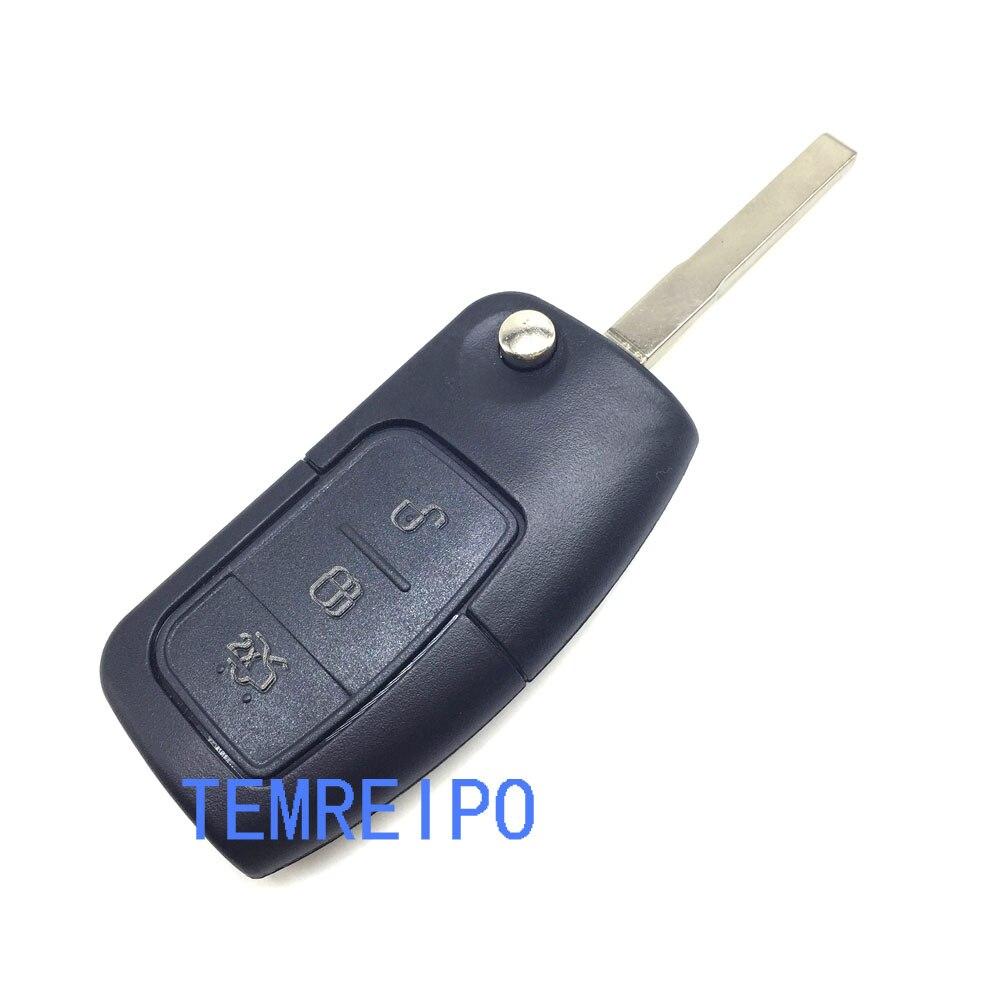 10 шт./лот 3 Кнопка флип складной брелок Cover дистанционного режиссерский автомобиль пустой Оболочки для Ford Focus Fiesta c Макс K