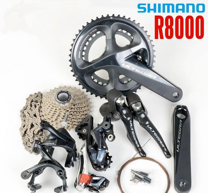 Shimano new ULTEGRA R8000 groupset 2x11 22S Speed 50 34T 53 39T 170 172 5 175mm