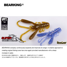 2019 BEARKING 4cm 1.6g 15pcs/ Fishing Lures soft lure Shrimp Artificial Bait Predator Tackle JERKBAIT for pike and bass(China)