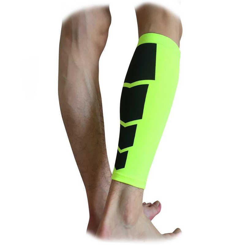 1ペア脚スリーブ保護パッドサッカーサッカーバスケットボールスポーツコンプレッションスキンガードランニングサイクリングふくらはぎウォーマーすね当て
