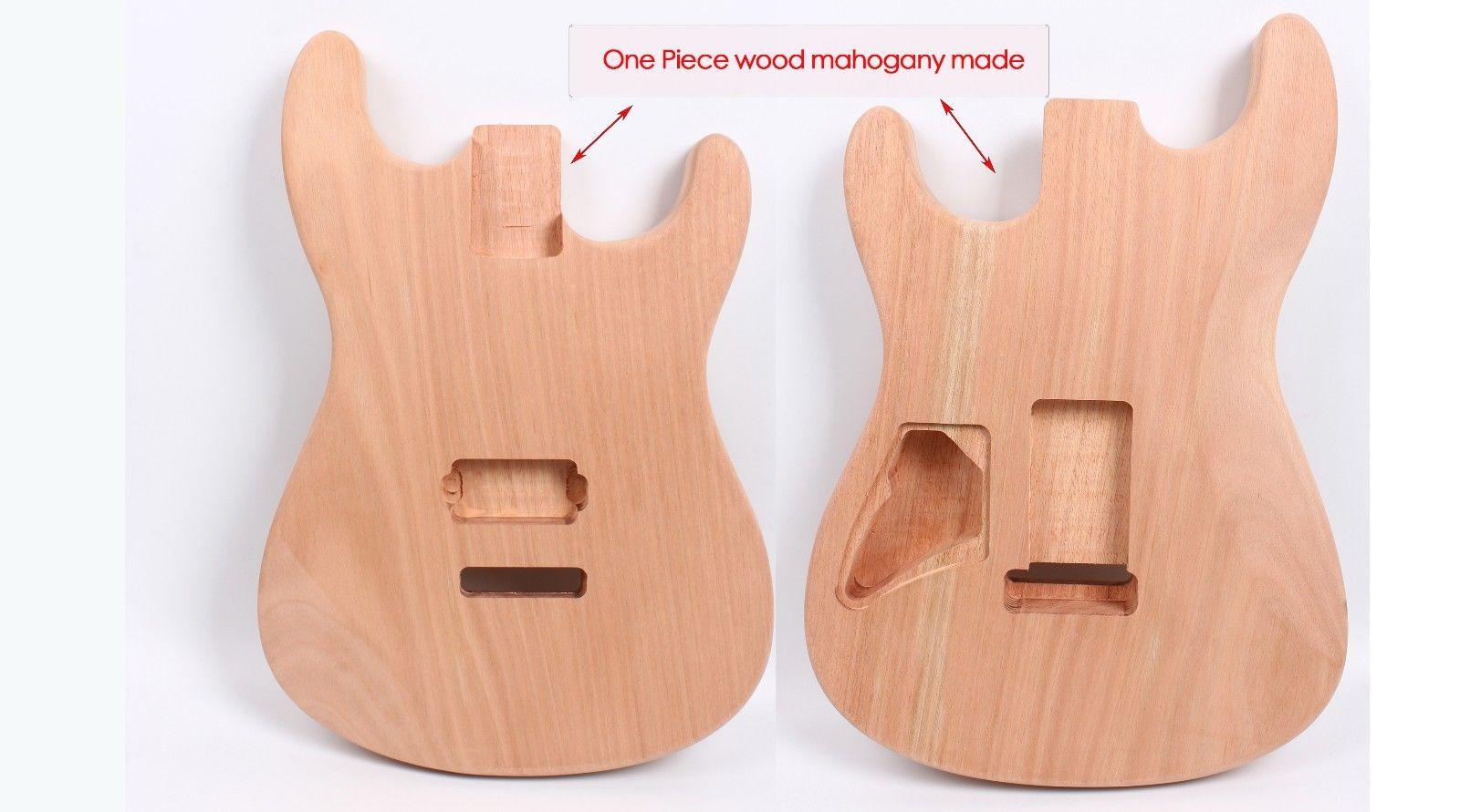 Yinfente Strat corpo della chitarra Elettrica di Un pezzo di Mogano Fatto Unfinished chitarra chitarra FAI DA TEYinfente Strat corpo della chitarra Elettrica di Un pezzo di Mogano Fatto Unfinished chitarra chitarra FAI DA TE