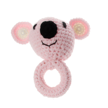 New Shower Gift Baby Teethers Koala Teether Wooden Teething Ring Cartoon Bed Toys for Newborn Rattle Toy Hand Bells
