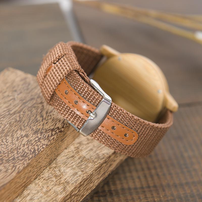 Drewniany zegarek Bobo Bird Style D09 pasek