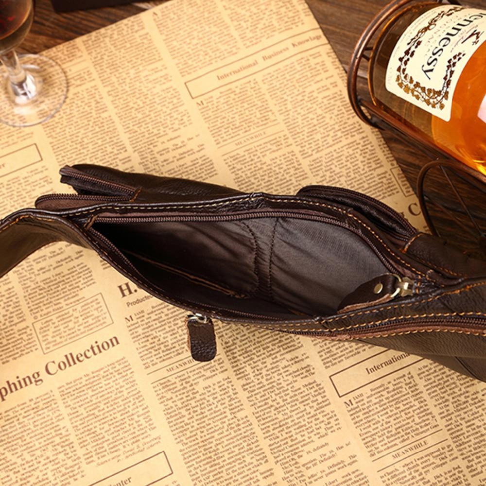100% ægte læder ægte hud retro mænd skulderbags taske mærke - Håndtasker - Foto 5