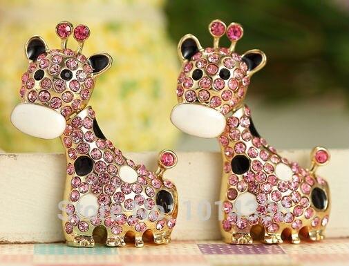 100% real capacity Hot Selling Jewelry crystal animal Giraffe USB Flash Drives thumb pen drives memory stick 8GB 16GB 32GB