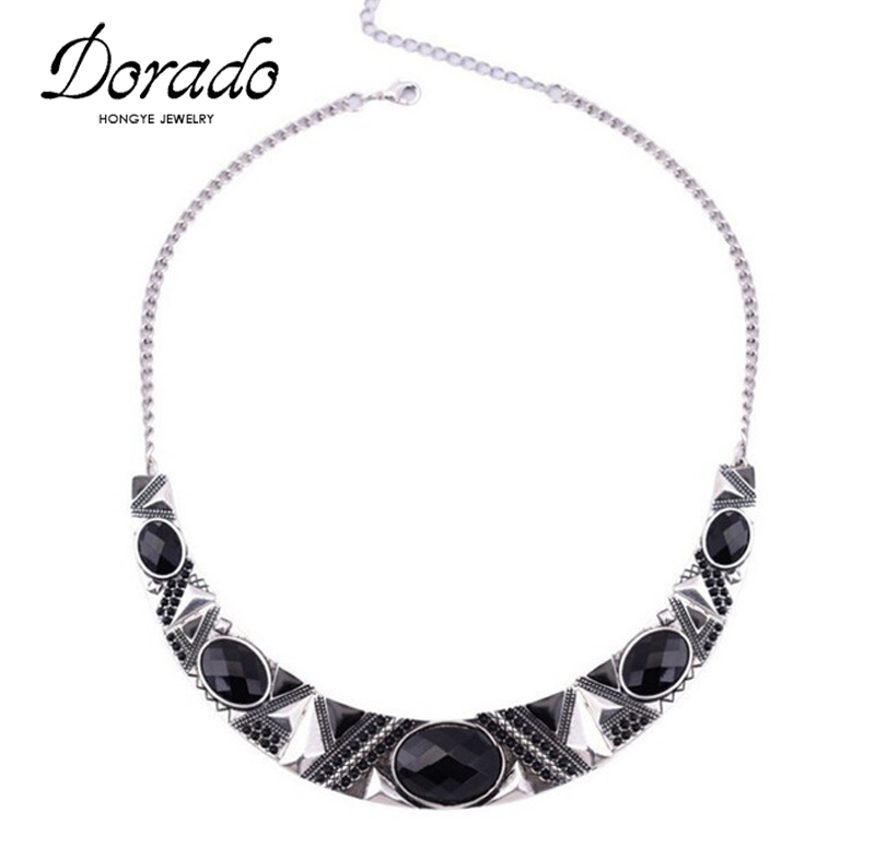 Statement Necklace 2016New Vintage Jewelry Silver Color