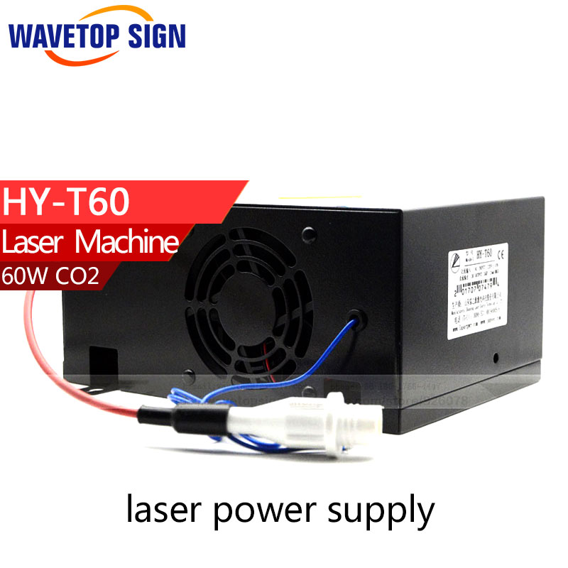 60W CO2 Laser Power Supply for CO2 Laser Engraving Cutting Machine HY-T60 high voltage flyback transformer hy a 2 use for co2 laser power supply