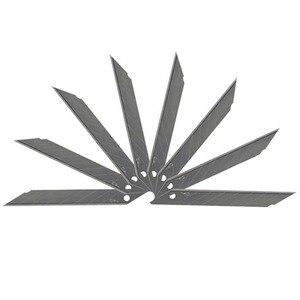 Image 5 - CNGZSY 2 יחידות מיני אמנות סכיני שירות 20 יחידות נירוסטה להבי DIY סכין ויניל סרט חותך רכב גלישת לחתוך כלים 2E02 + 2E03