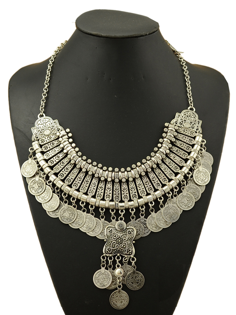 Gypsy Bohemian Beachy Chic Multi Layered Coin Necklace Festival - Fashion Jewelry - Photo 3