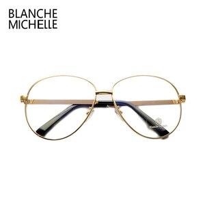 Image 4 - Lunettes de luxe pour hommes et femmes, montures de luxe en métal uni, à rayures colorées, surdimensionnées, avec boîte, nouvelle collection lunettes de mode
