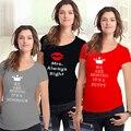 Moda de maternidad embarazada camisetas Casual ropa embarazo maternidad del tamaño extra grande de gran tamaño XXL