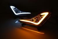 Led Drl Daytime Running Light For Hyundai Elantra 2014 15 J5 Avante MD Fog Lamp Projector