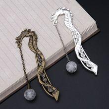 Retro Luminous Night Dragon Bookmark Label Reading Maker Book Stationery Student Gift