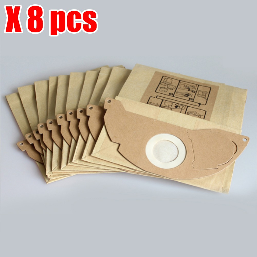 8pcs Vacuum cleaner dust parper bag replacement for Karcher A2000 2003 2004 2014 2024 2054 2064 2074 S2500 WD2200 2210 2240 2250 a handful of dust 8