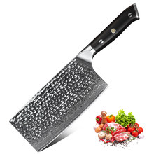 2019 XINZUO 7'' inch Cleaver Knife Kitchen Japanese Damascus Steel Chopping Meat Vegetable Chef Knives Cooking Tool Accessories(China)