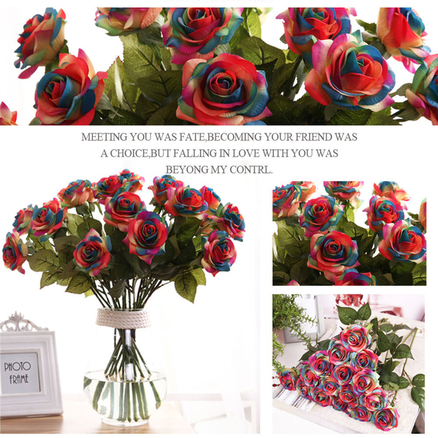 NNW Latex Real Touch Silicone Roses High Quality Artificial Flower ...