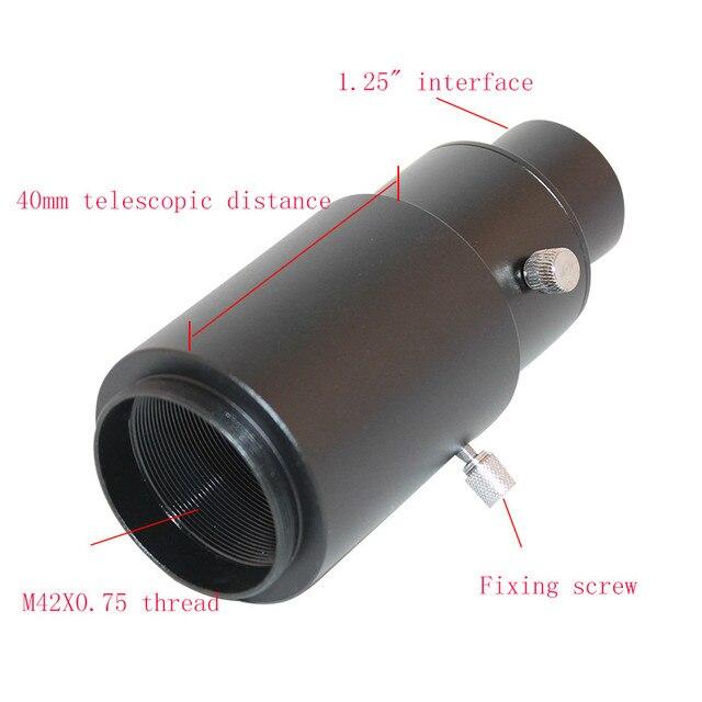 """Adaptateur de montage en T 1.25 """"+ caméra reflex/DSLR réglable CA1 Tube d'extension en métal pour la photographie oculaire de télescope astronomique"""