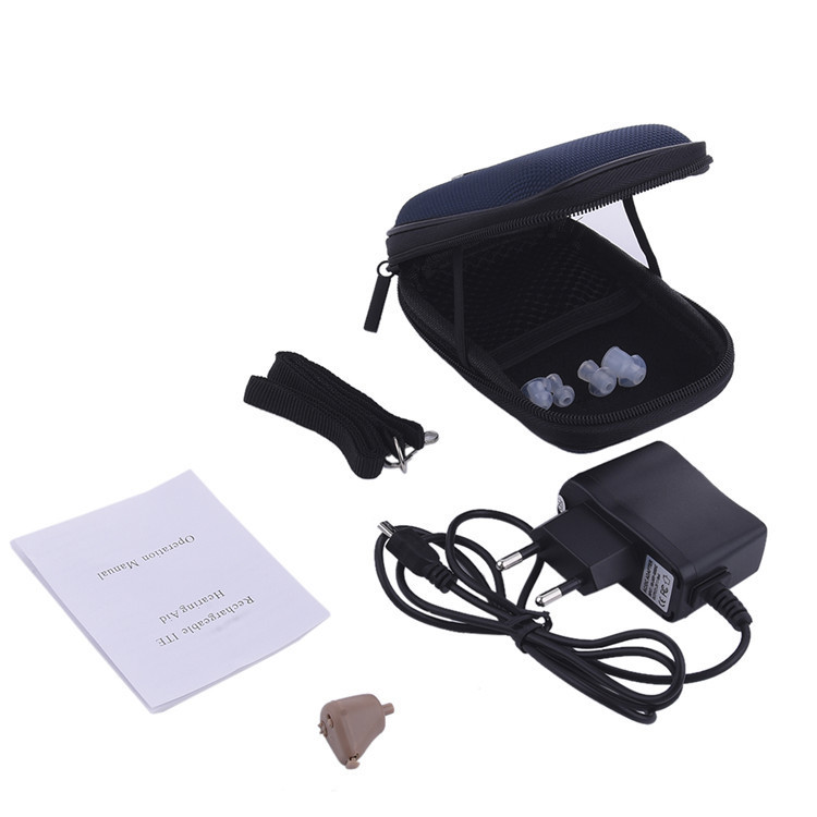 Portable Listening Mini Digital Rechargeable Hearing Aid Ear Sound Amplifier In the Ear Tone Volume Adjustable Ear Care With Box 10