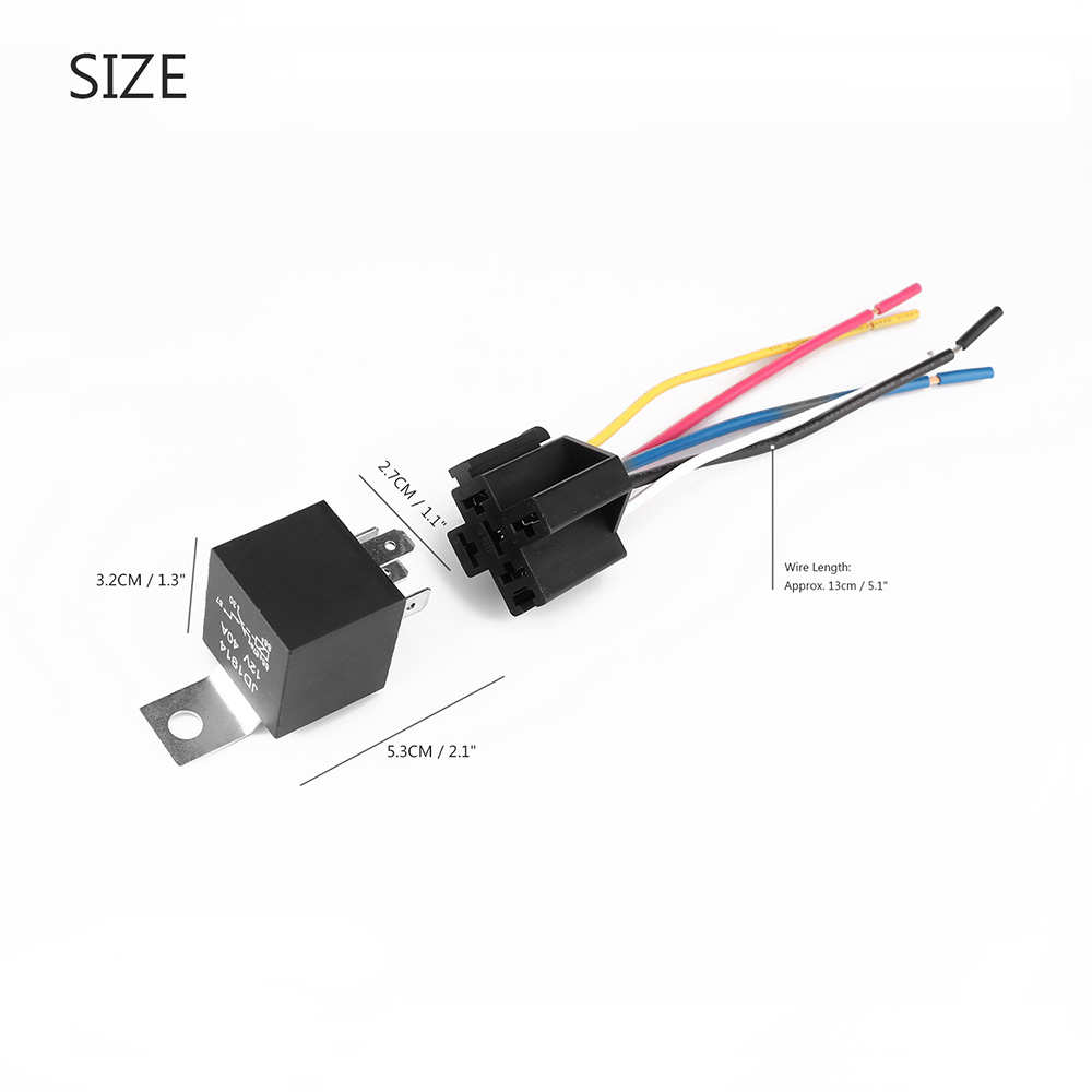 5pcs Amp 5 PIN Car SPDT Automotive Relay Car Auto Relay With Wiring Harness Socket New 451m relay wiring diagram 5 wire 2000 focus fuse and relay panel dei 451m wiring diagram at webbmarketing.co