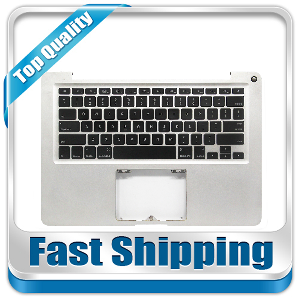 Tested For Macbook Pro Unibody A1278 2009 2010 US Standard Top Case Palmrest With Keyboard & Backlight No Trackpad new touchpad trackpad with cable for macbook pro 13 3 unibody a1278 2009 2012years