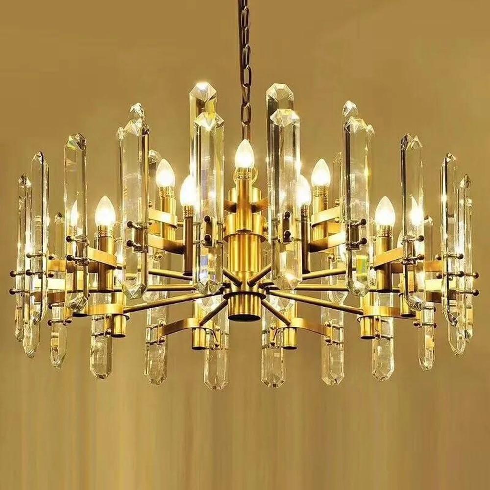 new luxury crystal chandelier lighting modern lamp chrome gold chandelier LED lights for home and hotel modern lamp crystal chandelier lighting aslo for wholesale