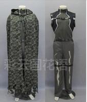 2016 Sword Art Online 2 SAO kirito cosplay costume GGO Phantom Bullet black cloak Sinon battle fatigues army camouflage