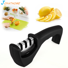 цена на Joyathome 3 Stage Kitchen Knife Sharpener Stainless Steel Ceramic Knife Sharpening Stone Tungsten Steel Diamond Sharpener