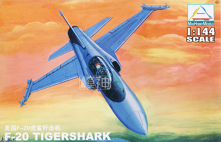 1:144 Modern U.S. Air Force F-20 Fighter Military Aircraft Assembly Tiger Model 80424