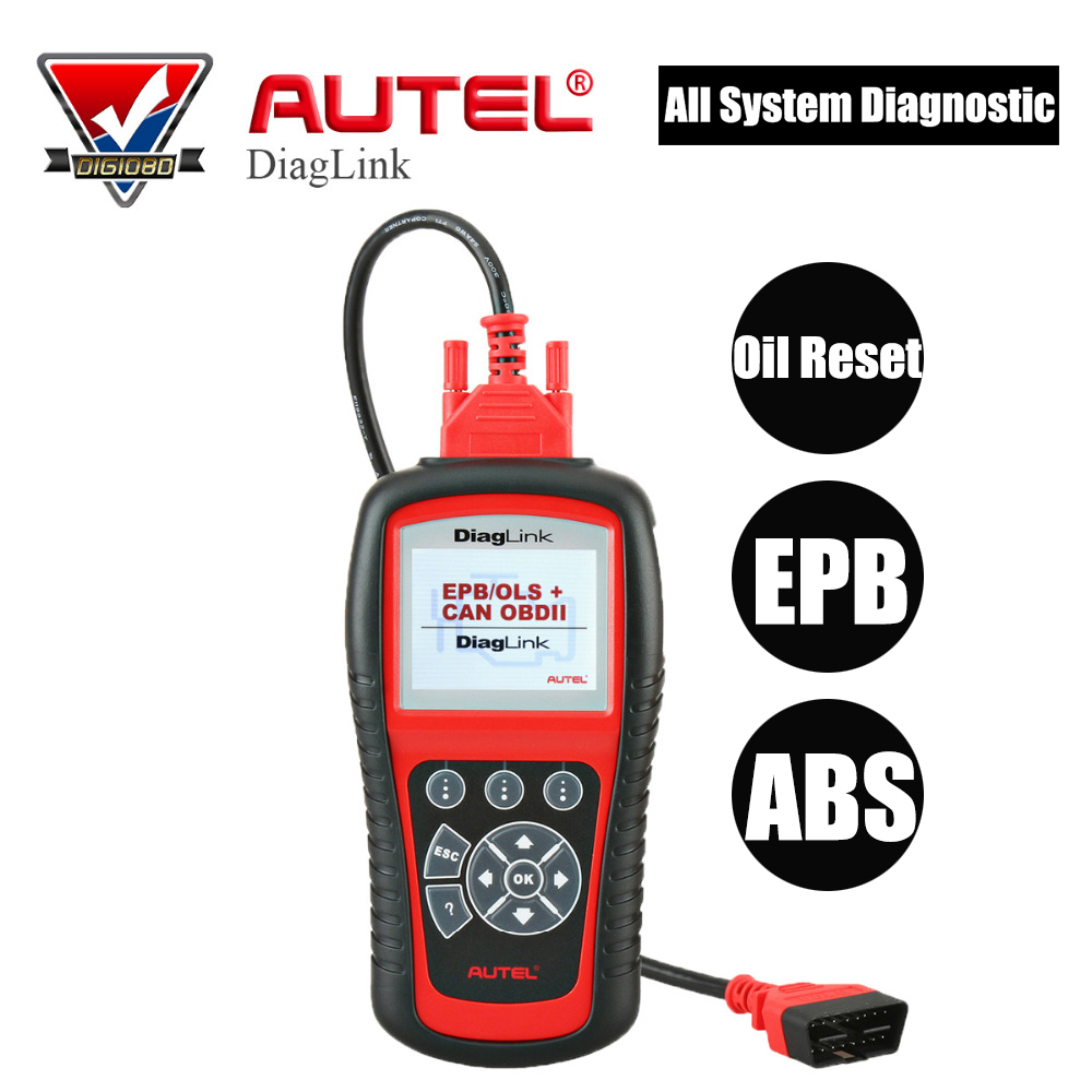 Autel Diaglink OBD2 Auto Diagnostic Tool All System Scanner Car Code Reader with Oil Reset/EPB/ABS Maintainece Same as MD802