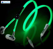EastVita Glow In The Dark Earphones Glow Earbuds Metal Glowing Headset Luminous Light Stereo With Mic