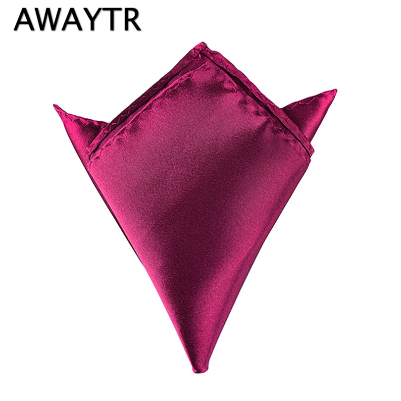 2 Pcs/Lot Pocket Square Mens Silk Handkerchiefs Classic Party Wedding 6 Colors Handkerchief Workwear High Quality
