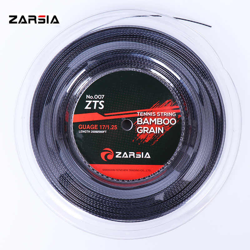2018 NEW ZARSIA ZTS 007Quality tennis strings 1.25mm 17 Gauge Bamboo grain tennis racket  200m big banger Poly Tennis strings