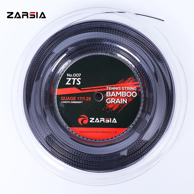 2018 NEW ZARSIA ZTS 007Quality tennis strings 1.25mm 17 Gauge Bamboo grain tennis racket 200m big banger Poly Tennis strings zarsia 200m flash nylon tennis string 16g 1 35mm multifilamen tennis rackets string squash strings synthetic tennis strings